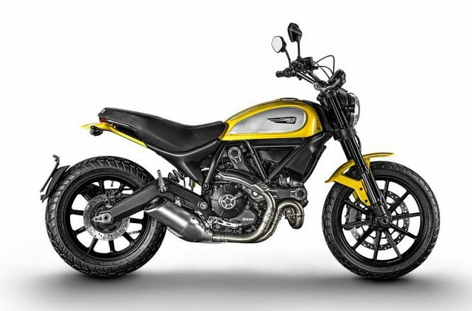 Scrambler uses V-twin 803cc Monster motor