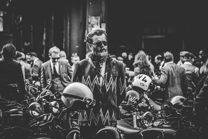 Plenty of tweed and facial hair on show at the DGR