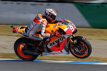 Marc Marquez did enough for the title in Motegi