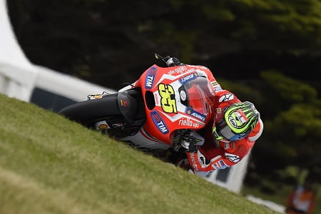 Crutchlow fell from a comfortable second