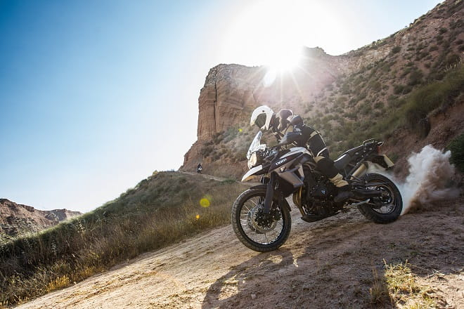 The Tiger 800XC on test in Spain.