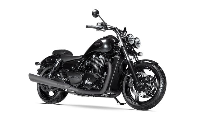 Triumph's new 2015 Thunderbird Nightstorm has been stood too close to Triumph's black paint department.