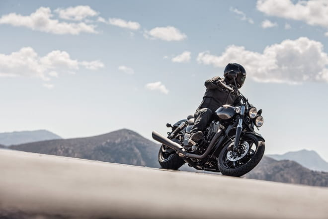 Triumph's Thunderbird Nightstorm in action.