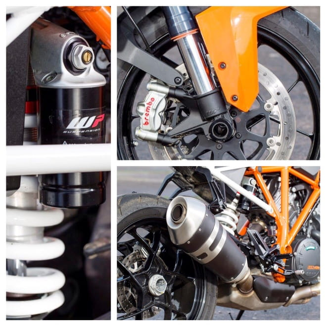 Credible chassis, brakes and suspension all aid the KTM's nimbleness