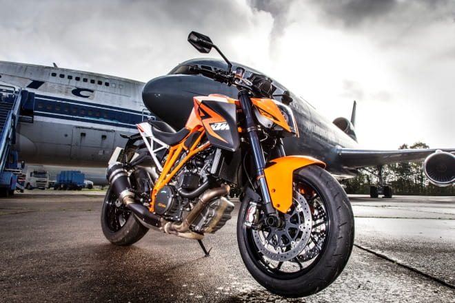 KTM squared up to an RAF plane, it wasn't scared