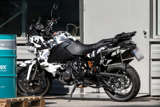 Spy shot of KTM's 1050 Adventure