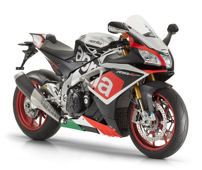 The RSV4 RF comes with the race pack & special paint job