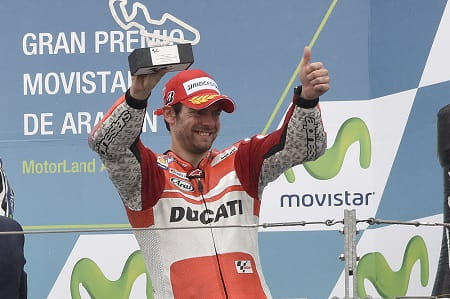 Crutchlow was on the podium with Ducati in Aragon