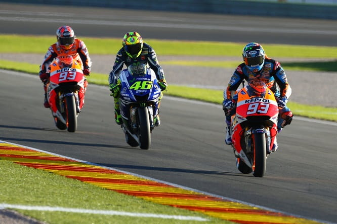 At one point Rossi got in between them