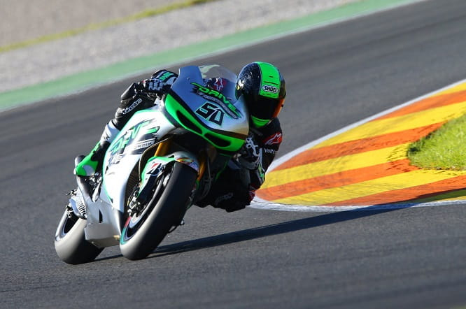 Laverty says the bike is a lot smaller than what he's used to