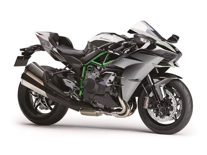 Street version of the Ninja H2. Yours for £22,000.