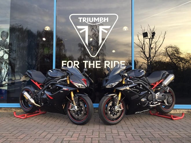 Seeing double! Two of the Triumph Daytona's at Pure Triumph.