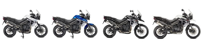 The Triumph Tiger Range