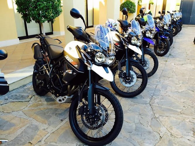 We're in Spain testing the new Triumph Tiger Range