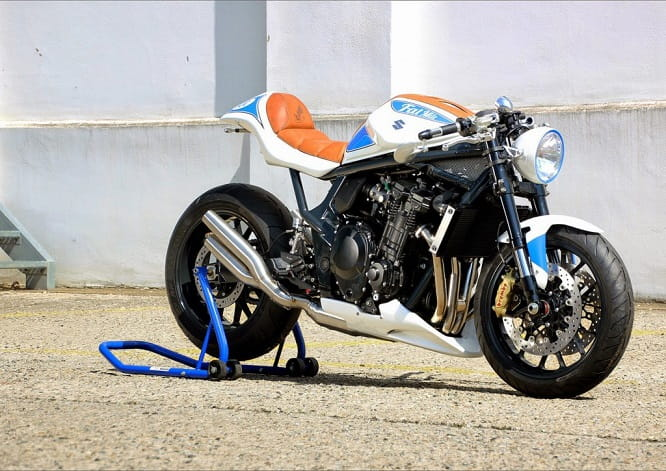 The 'FatMile' custom based on the Suzuki Bandit