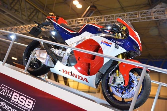 The RCV road bike at Motorcycle Live!