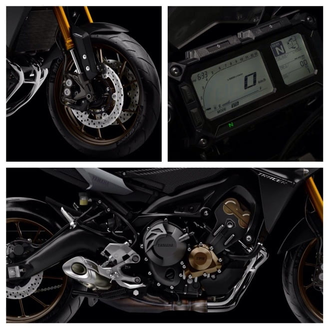 Close up on the Tracer's revised suspension and new instrument display