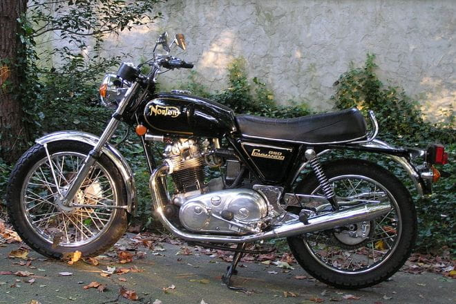 828cc Norton Commando: the fastest British twin ever...back in the day