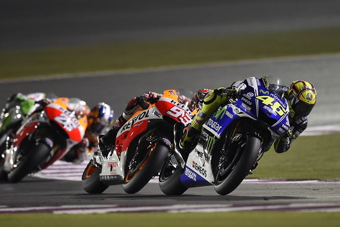 Qatar was an intense battle between Rossi and Marquez
