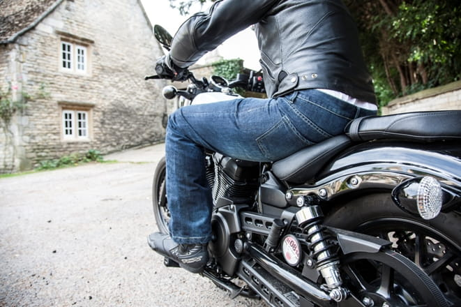 By choosing a longer leg length means more of your boots will be covered when on the bike
