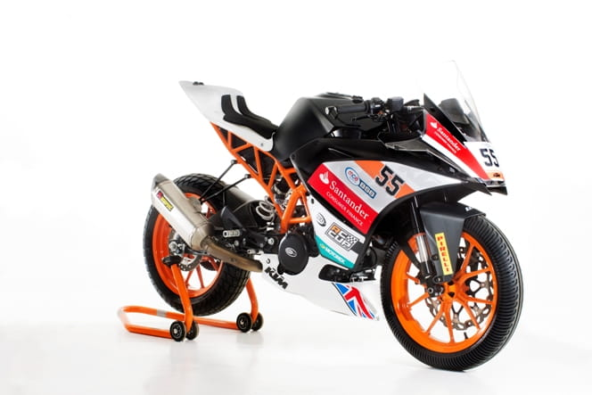 KTM RC390 race bike