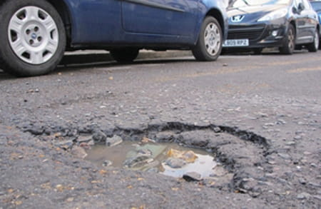 Killer roads. Potholes are no friend of the motorcyclist