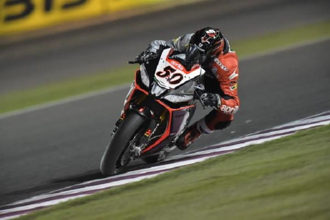 Guintoli clinched the World Superbike title in Qatar