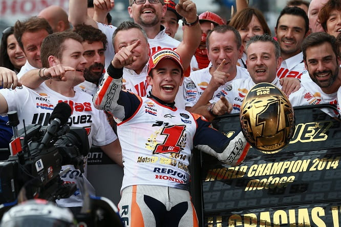 Marquez took his second title at just 21 years old