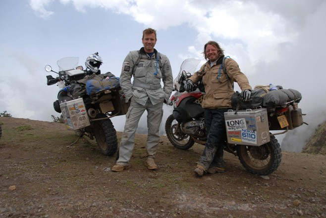 Ewan McGregor and Charley Boorman going the Long Way Down