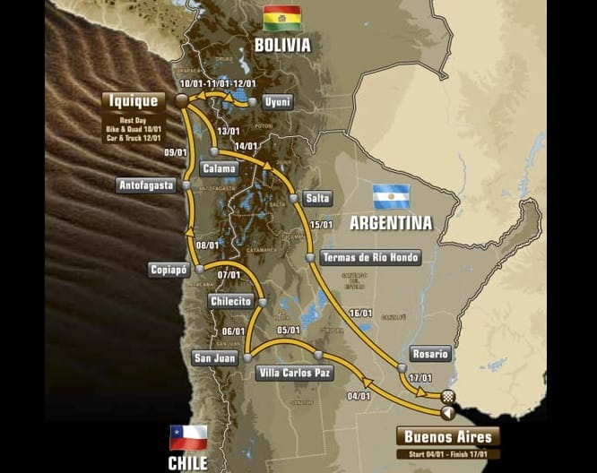 The route covers over 9,000km