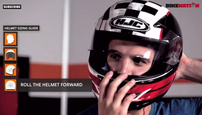 Make sure the helmet is a snug but not tight fit