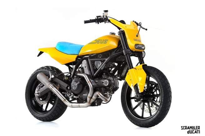 Deus Ex Machina's 'Hondo Grattan' interpretation of the Ducati Scrambler 'Full Throttle'