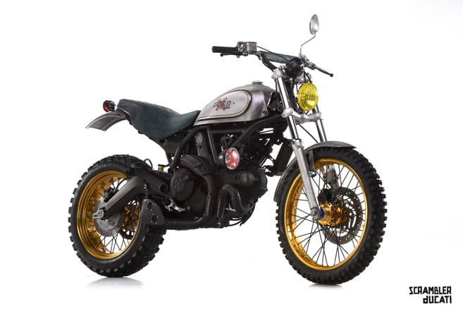 Meet 'Scratch', Officine Mermaid's version of the Ducati Scrambler 'Urban Enduro'