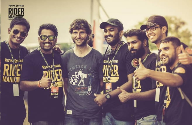 Guy Martin attends Rider Mania in India