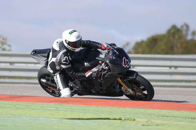 Linfoot tested the Honda in Spain last week