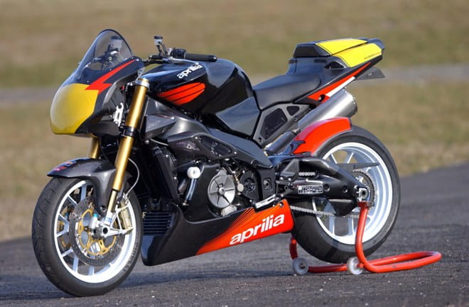 Amazing value at £5k, the Aprilia Tuono Racing