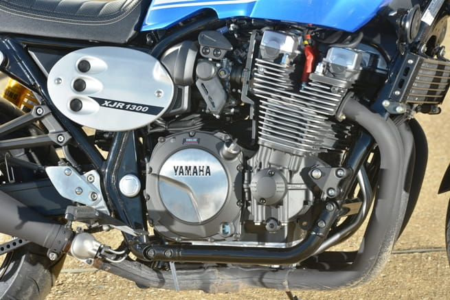 The mighty 1251cc in-line four cylinder heart of Yamaha's XJR1300