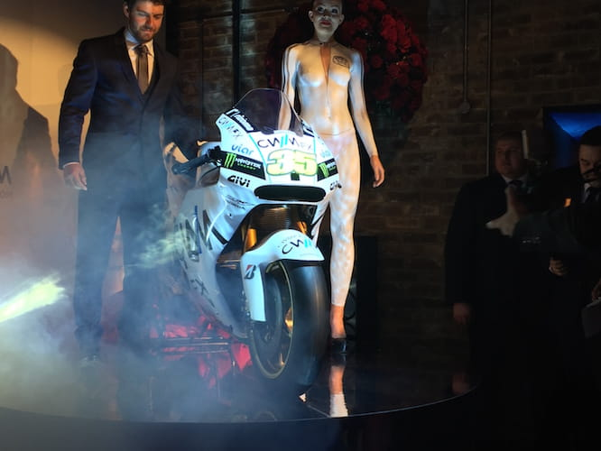 Crutchlow, his Honda and a naked lady