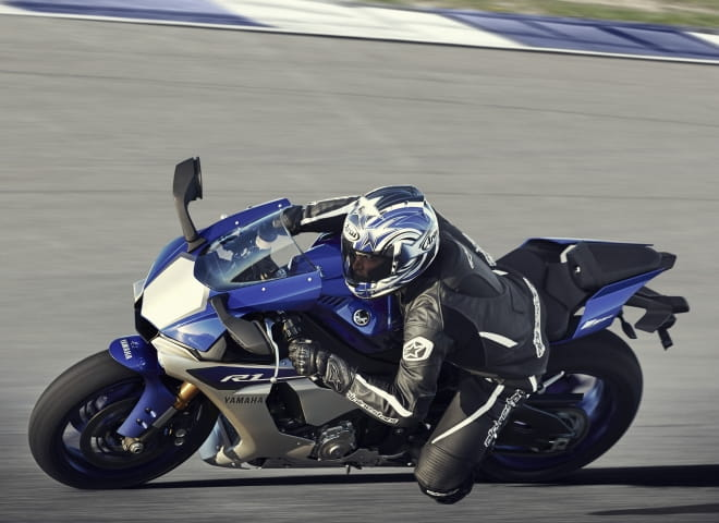 Yamaha's test rider pushes the hi-tech R1
