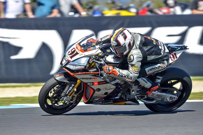 Haslam on the Aprilia