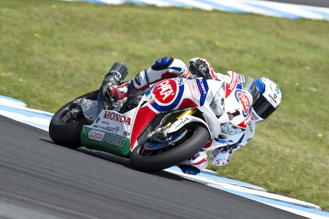 Sylvain Guintoli on the PATA Honda