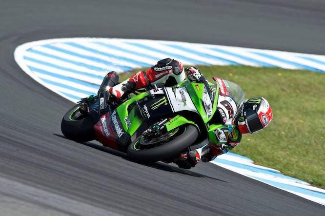 Jonathan Rea on the Kawasaki