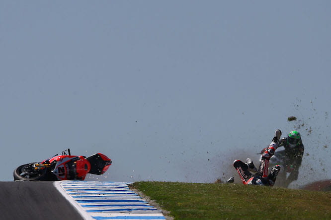 Bayliss suffered a heavy fall in free practice