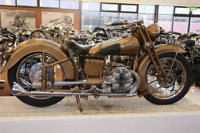 Brough Superior Golden Dream now sits in the National Motorcycle Museum