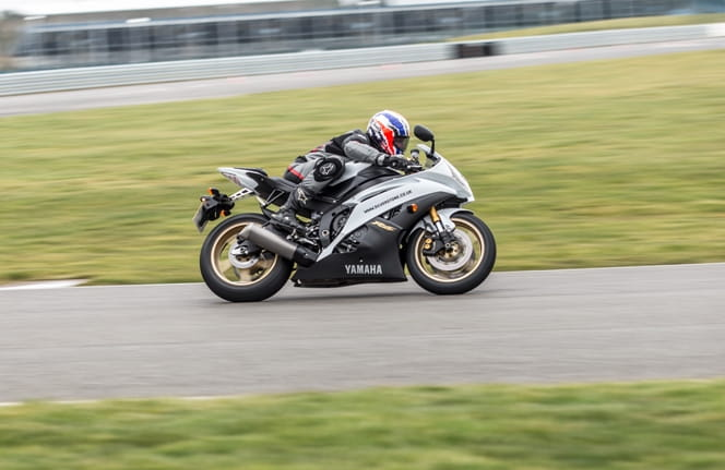 Patrick Allen gets comfortable with the Yamaha R6