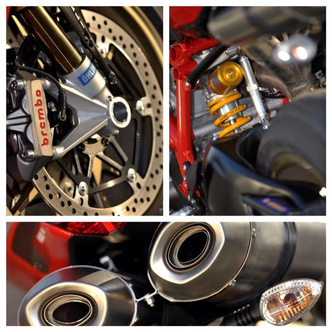 Brembo's, Ohlins' and Marchesini were all used