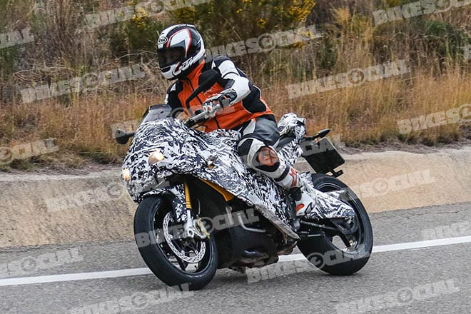 KTM takes an Aprilia Tuono to a fancy dress party dressed as a zebra