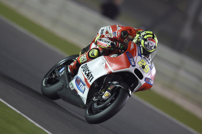 Iannone on the Ducati