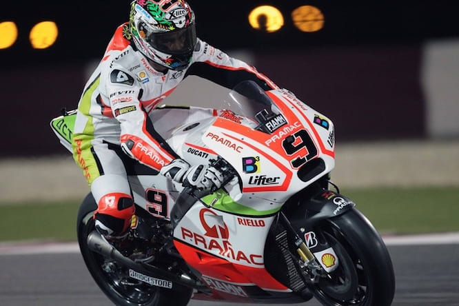 Danilo Petrucci on the Pramac Ducati