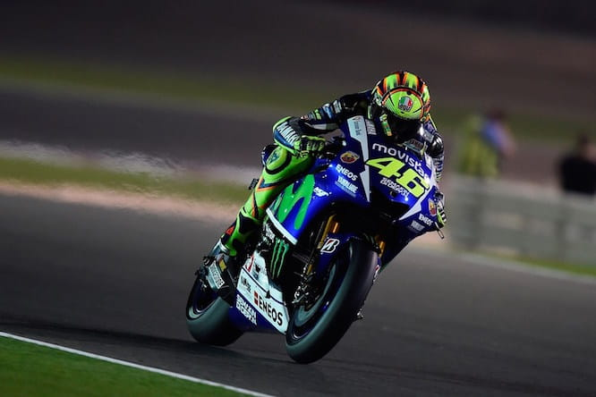 Rossi on the Movistar Yamaha